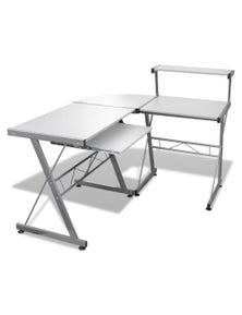 Computer Desk Workstation With Pull Out Keyboard Tray