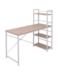 Desk With 4-Tier Bookcase