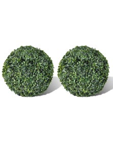 Artificial Leaf Topiary - Boxwood Ball (Set of 2)