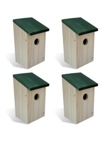 Bird House Nesting Box Wood (4 Pieces)