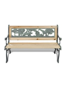 Home Garden Bench For Children Animal Pattern