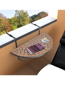 Mosaic Hanging Balcony Table