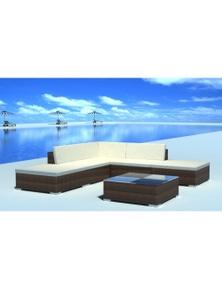 Poly Rattan 15-Piece Garden Seat Set