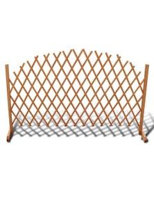 Extendable Wood Trellis Fence