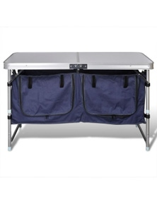 Foldable Camping Cupboard With Aluminum Frame