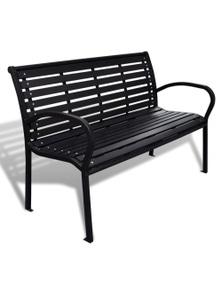 Garden Bench with Steel Frame