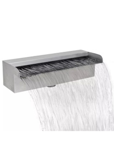 Rectangular Waterfall Pool Fountain Stainless Steel