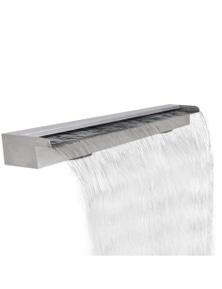 Rectangular Waterfall Pool Fountain Stainless Steel