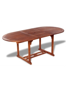Acacia Wood Outdoor Extendable Dining Table