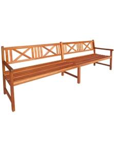 Solid Acacia Wood Garden Bench