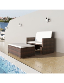 Garden Sofa Poly Rattan Set (5 Pieces)