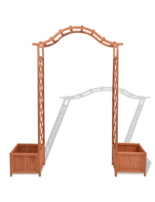 Trellis Rose Arch With Planters