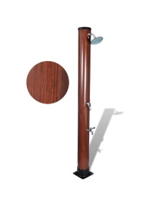 Pool Solar Shower With Faux Wood Finish