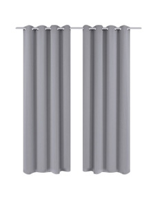 Blackout Curtains with Metal Rings (2 Pieces)