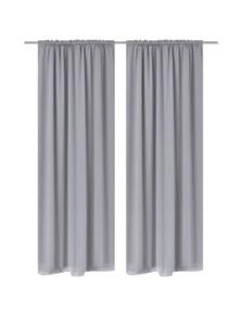Slot-Headed Blackout Curtains (2 Pieces)