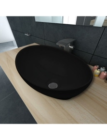 Luxury Ceramic Basin Oval-Shaped Sink