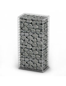 Gabion Basket Wall with Lids