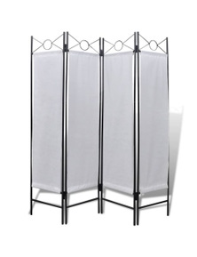 4-Panel Room Divider Privacy Folding Screen