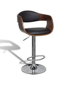 Bar Stool Artificial Leather Height Adjustable