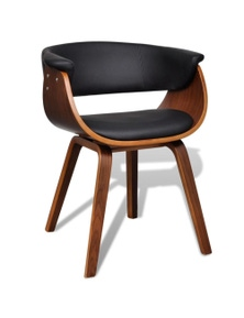 Modern Artificial Leather Wood Dining Chair