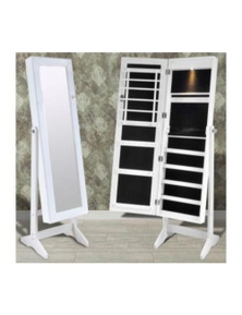 Free Standing Jewelry Cabinet With Mirror