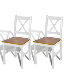 Wood Dining Chairs (2 Pieces)