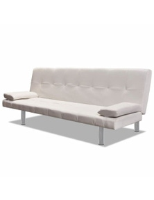 Adjustable Sofa Bed with Two Pillows