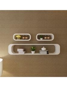 MDF Floating Shelf Cubes Wall Display Storage (3 Pieces)