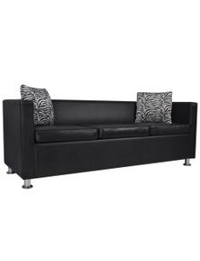Artificial Leather 3-Seater Sofa