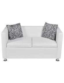 Artificial Leather 2-Seater Sofa