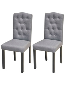 Dining Chairs Fabric (Set Of 2)