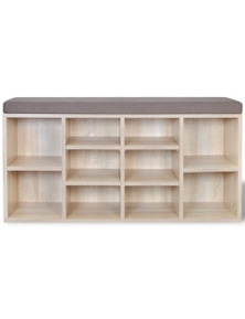 Shoe Storage Bench 10 Compartments
