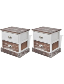 Shabby Chic Bedside Cabinets (2 Pieces)