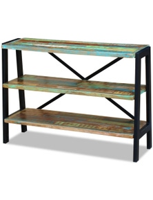 Solid Reclaimed Wood 3-Shelf Sideboard