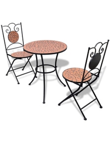 Mosaic Bistro Table with 2 Chairs