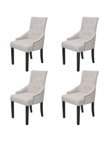 Dining Chairs Polyester (4 Pieces)