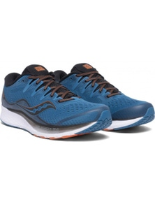 Saucony Men's RIDE ISO 2 Sneakers Runners Running Shoes - Blue/Black[US10]