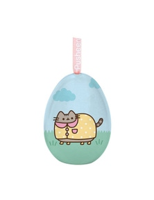 Pusheen Tin Egg Ornament - Rainy Day