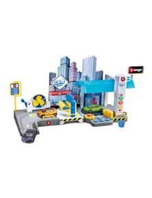 Burago Street Fire Car Wash Play Set