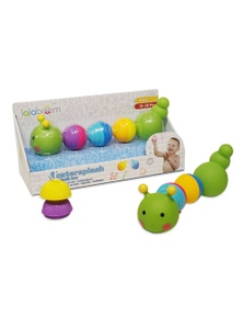 Lalaboom 8pcs Beads Caterpillar Bath Toy