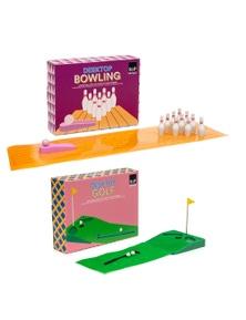 Salt & Pepper Desktop Games Combo Golf & Bowling 2Pk