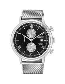Citizen Silver Mesh Men's Chronograph Watch - AN3610-80E