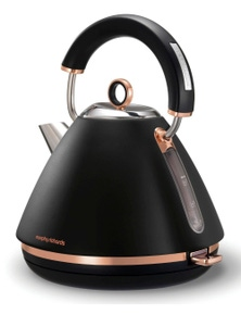 Morphy Richards 1.5L Black Accents Pyramid Kettle