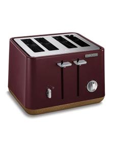 Morphy Richards Aspect Cork 4 Slice ToasterMaroon