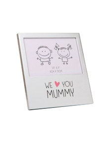 Mothers Day Gifts We Love You Mummy Aluminium Photo Frame