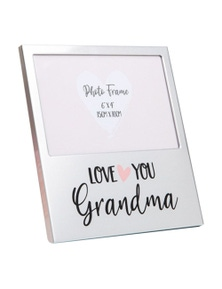 Mothers Day Gifts Love You Aluminium Photo Frame - Grandma