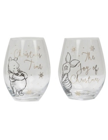 Disney Pooh & Piglet Collectible Set of 2 Glasses