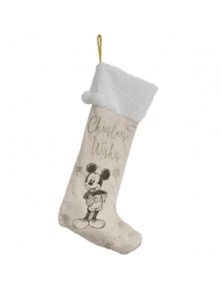 Disney Mickey Mouse Collectible Velvet Xmas Stocking