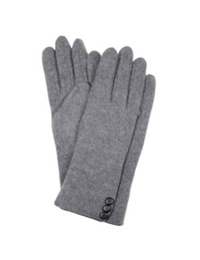 Dents Ladies Knit Unlined Gloves Warm Winter Button Detail