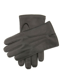 Dents Men's Leather Glove With Three Stitch Points - Black - XL